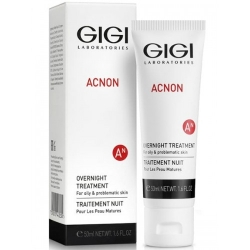 Õlivaba emulsioon rasusele nahale - GIGI ACNON OVERNIGHT TREATMENT 50ML