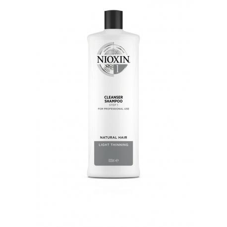 Puhastav šampoon 1000 мл Nioxin süsteem 1